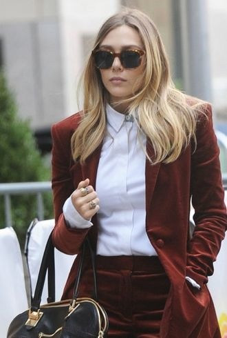 Elizabeth Olsen visits the Today Show New York City cropped