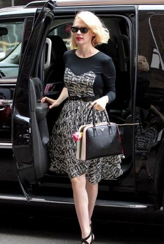 January Jones arriving back at her hotel New York City cropped