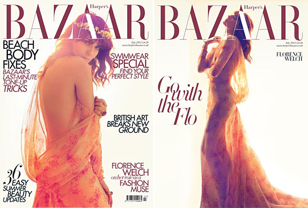 Harper's Bazaar UK July 2012 - Florence Welch by Camilla Akrans