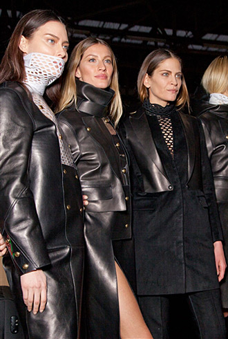 Shalom Harlow, Gisele Bundchen, and Frankie Rayder at Alexander Wang Fall 2012