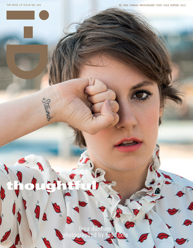 """i-D """"Wise Up Issue"""" - Lena Dunham"""
