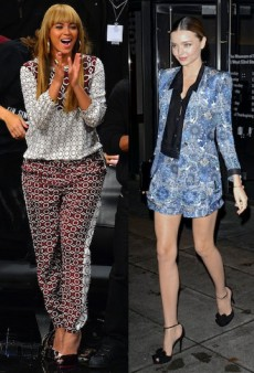 Beyonce and Miranda Kerr Show How to Do H2T Prints Right