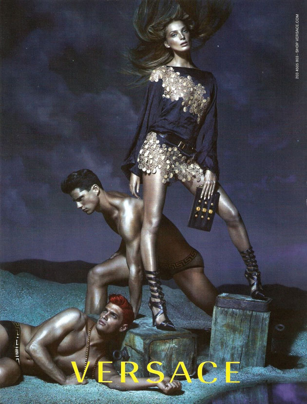 Versace Spring 2013 ad campaign photographed by Mert & Marcus