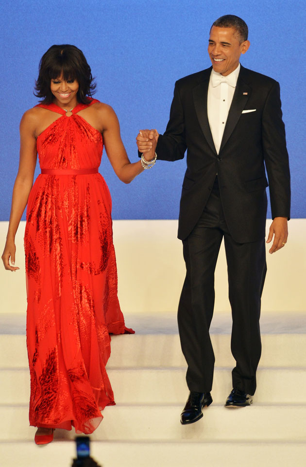 Michelle Obama 's Custom Red Jason Wu Gown