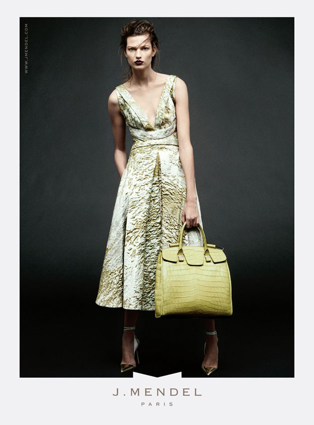J. Mendel Spring 2013 ad campaign - Bette Franke photographed by Daniel Jackson and styled by Alistair McKimm