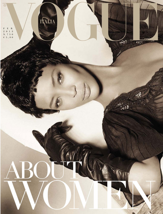 Vogue Italia February 2013 - Naomi Campbell by Steven Meisel