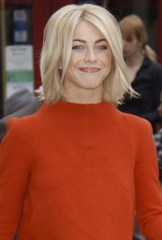 Julianne Hough at The Grove to appear on entertainment news show Extra Los Angeles cropped