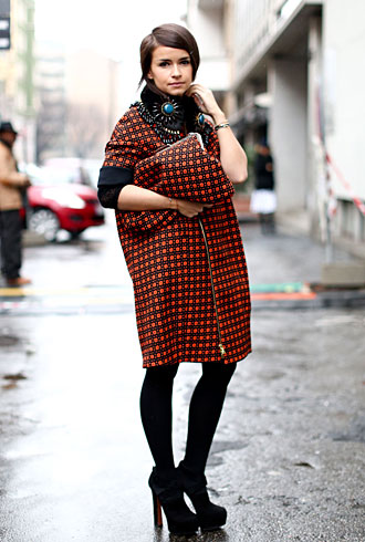 Miroslava Duma - Editor street style Milan Fashion Week Fall 2013