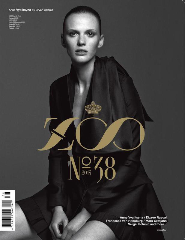 Anne Vyalitsyna in Dior for Zoo - photography by Bryan Adams