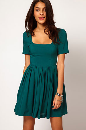 ASOS square neck skater dress - forum buys