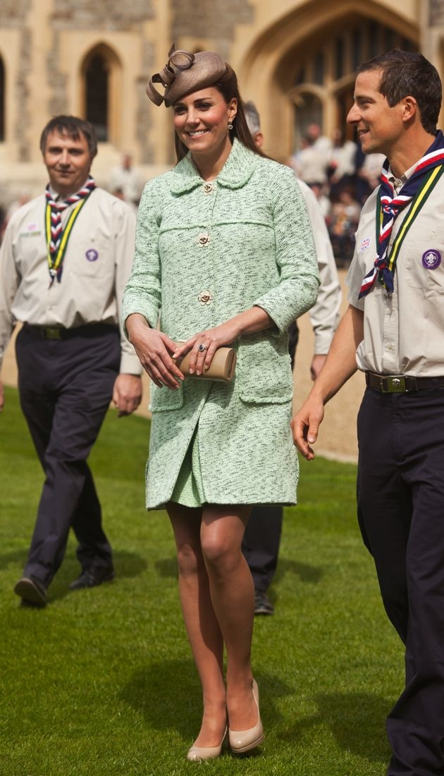 Catherine Duchess of Cambridge National Review of Queen Scouts London
