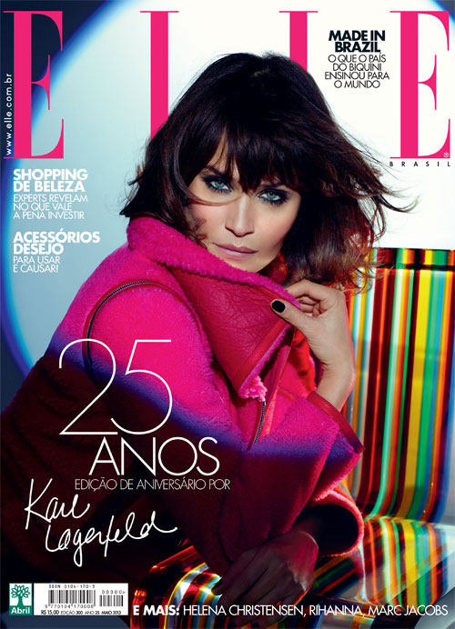 Elle Brazil May 2013 - Helena Christensen photographed by Karl Lagerfeld