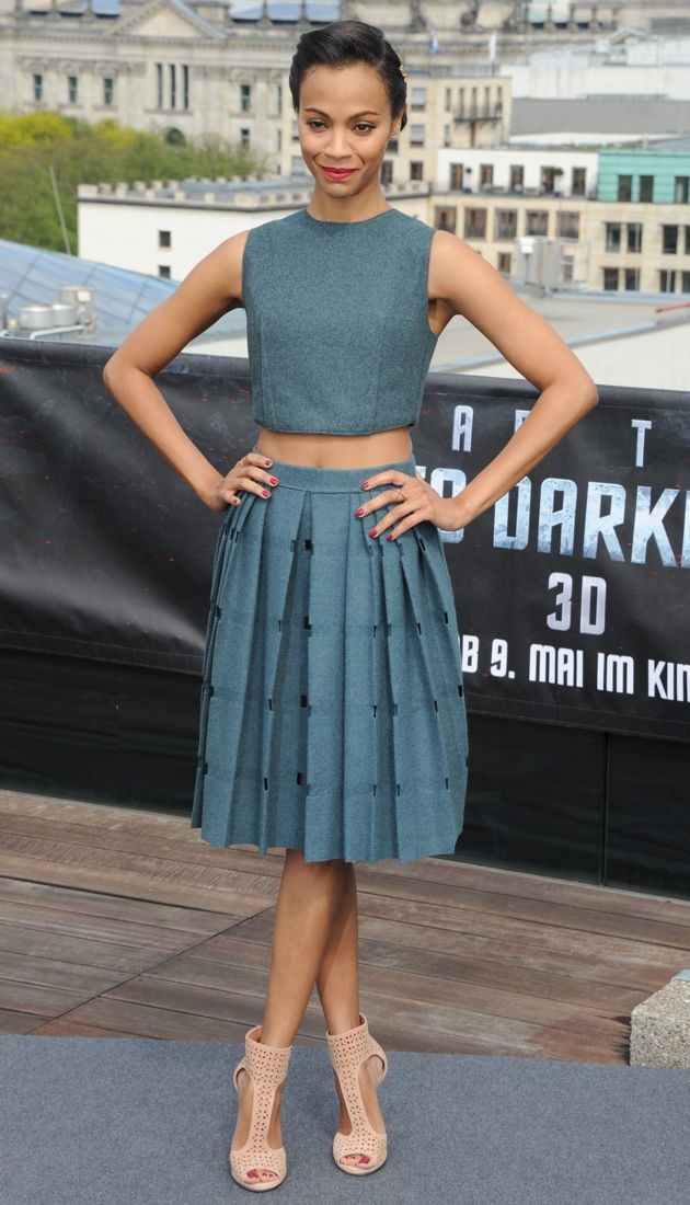 Zoe Saldana Star Trek Into Darkness photocall Berlin