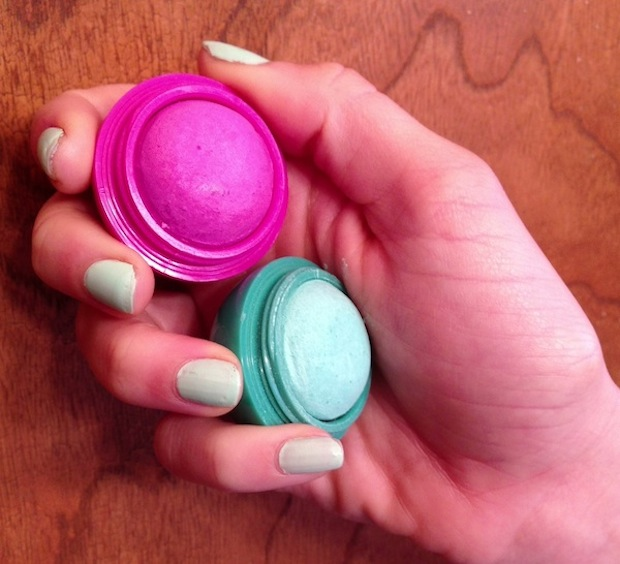 I bought these sea foam and fuscha hair chalk balls from Urban Outfitters for $5 each.