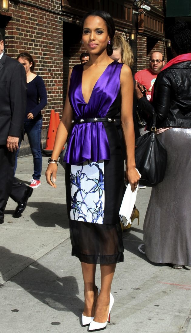 Kerry Washinton Late Show with David Letterman New York City
