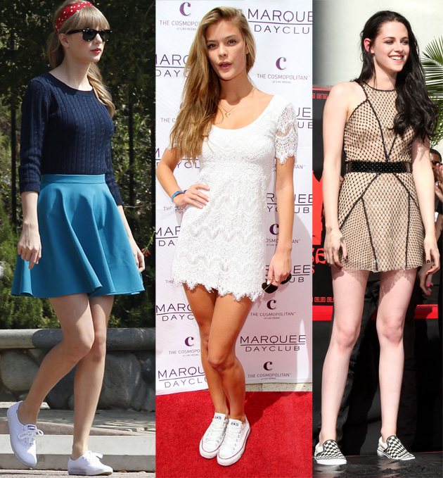 Don'ts of Wearing Sneakers with Dresses
