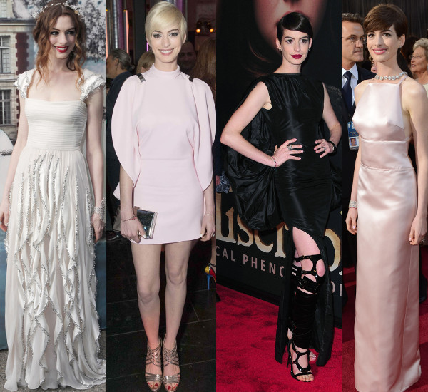 Anne Hathaway's looks with Zoe.