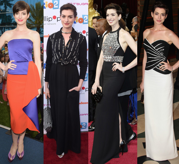 Anne Hathaway's Post-Zoe style