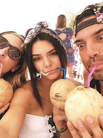 kendall jenner instagram nose ring givenchy coachella