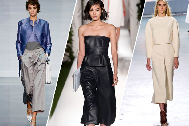 culottes on the spring 2014 runways