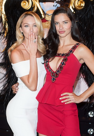 Angels Adriana Lima and Candice Swanepoel Victoria's Secret announcement