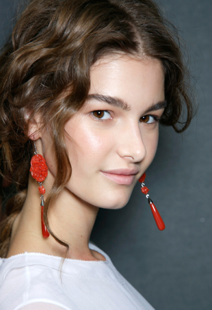 Alberta Ferretti spring 2014 statement earrings