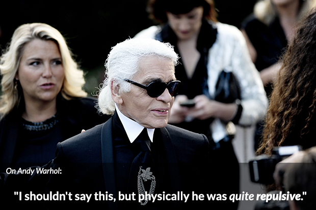 Karl Lagerfeld Bitchy Andy Warhol