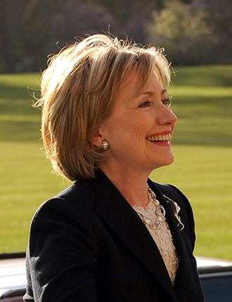 hilary clinton in lodnon