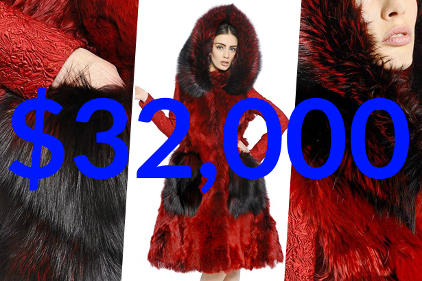 dolce and gabbana ALPACA AND FOX FUR COAT