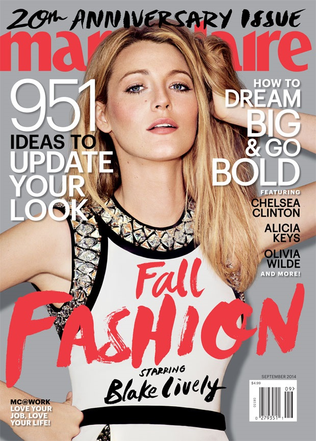 US Marie Claire September 2014 Blake Lively Guy Aroch
