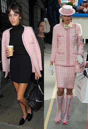 Alexa Chung in Chanel at Henry Holland LFW