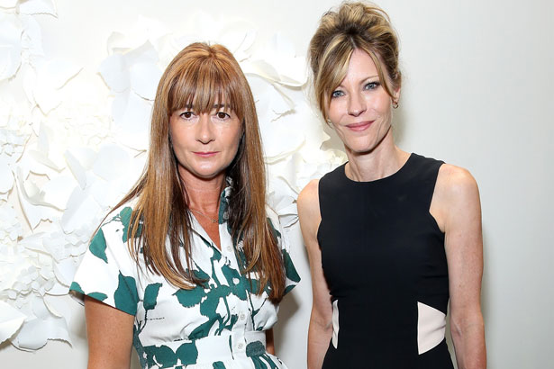 Kate Spade Chief Creative Officer Deborah Lloyd and ELLE Editor-in-Chief Robbie Myers at Kate Spade Spring 2015
