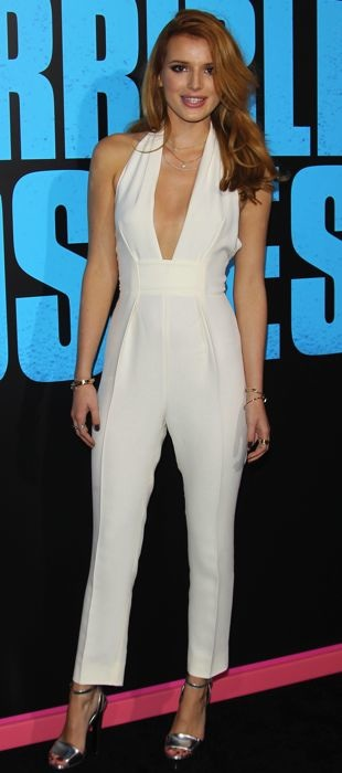 Bella Thorne in a Gucci jumpsuit at Horrible Bosses 2 premiere