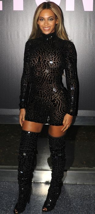 Beyonce in Tom Ford at her album release party