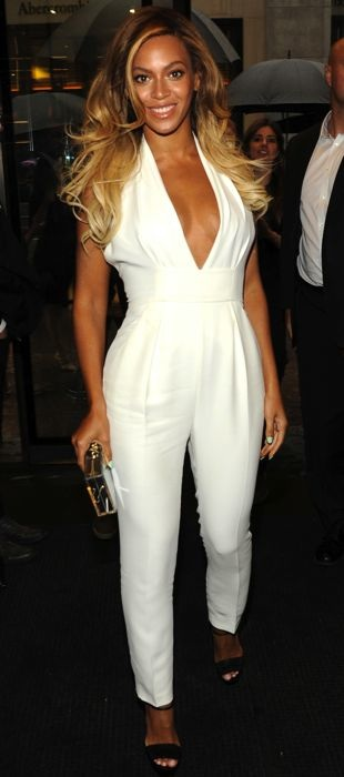 Beyonce in a Gucci jumpsuit at Chime for Change