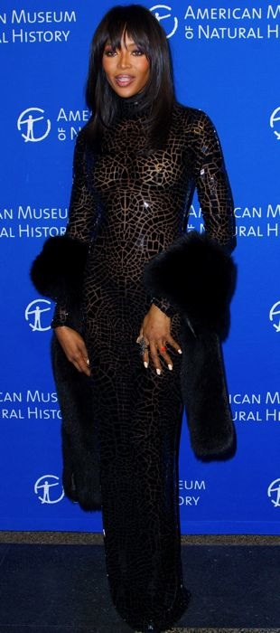 Naomi Campbell in Tom Ford at the American Museum of National History Gala