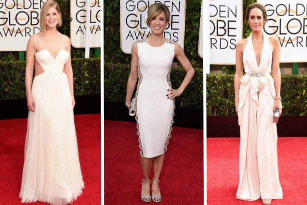 Rosamund Pike, Felicity Huffman, Louise Roe; Image: Getty