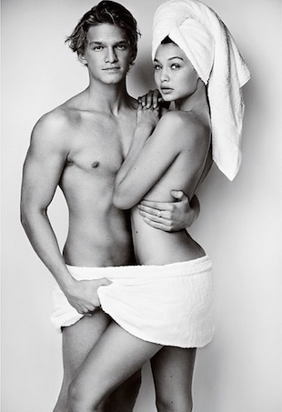 Cody Simpson Gigi Hadid Towel Series