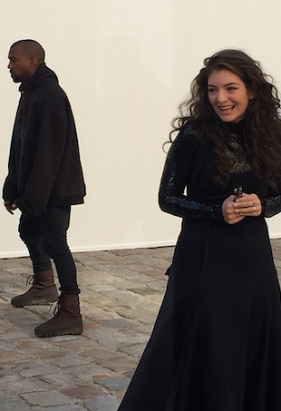 Lorde and Kayne West at Christian Dior Paris Fashion Week Show
