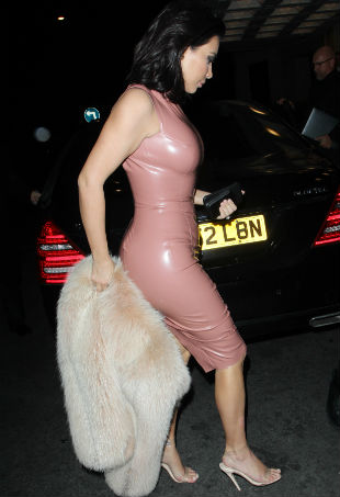 Kim Kardashian latex dress