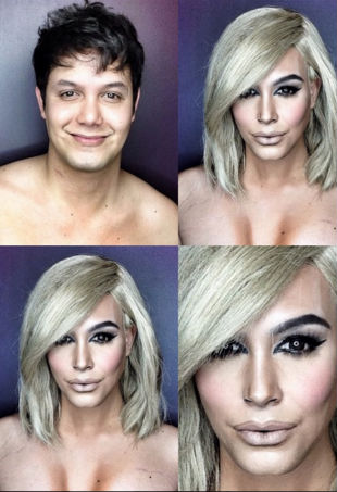 Kim Kardashian Makeup Transformation
