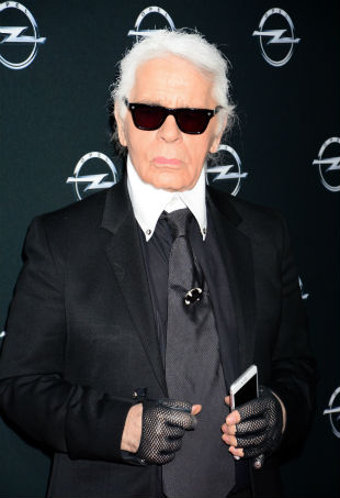 Karl Lagerfeld red carpet