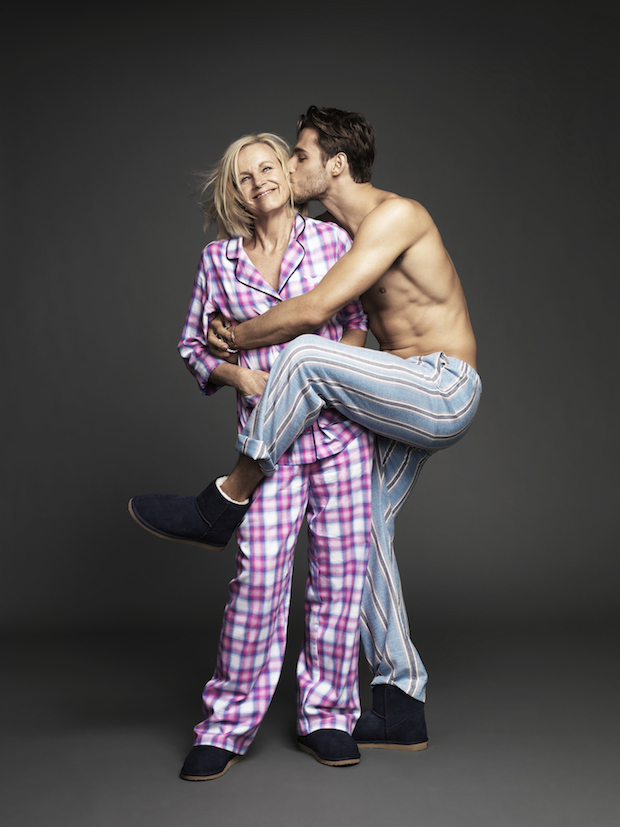 Stenmark and mum pose for Peter Alexander