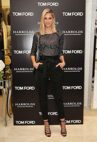 Nikki Phillips at Tom Ford womenswear launch