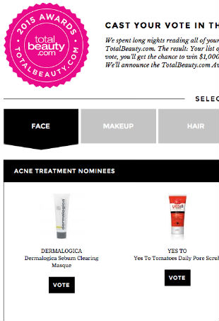 Total Beauty Reader's Choice