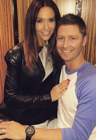 kyly and michael clarke expecting