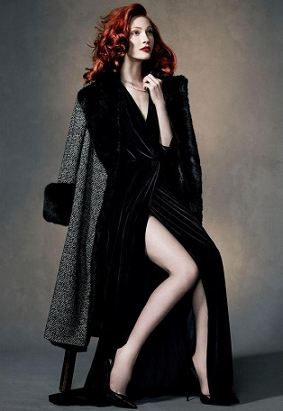 Model dressed in Bruce by Bruce Oldfield for John Lewis