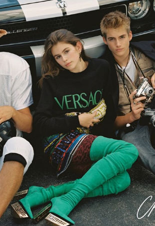 Kaia Gerber Presley Gerber CR Fashion Book
