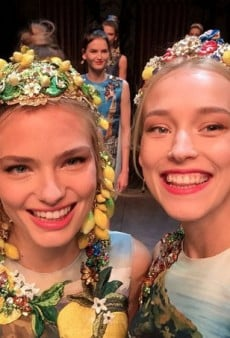 Dolce & Gabbana Models Took Selfies on the Runway