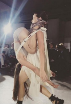 Models Wear Each Other on the Rick Owens Spring 2016 Runway